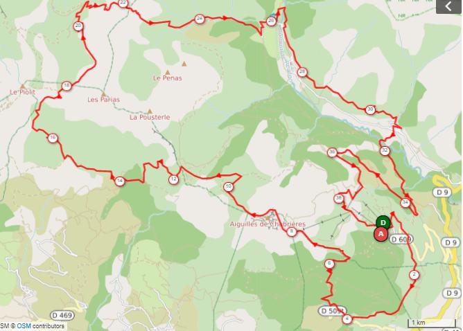 parcours trail marathon du lac de Serre-Ponçon.