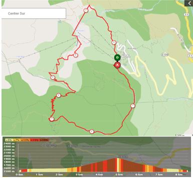 Parcours du trail 8km disponible sur Openrunner